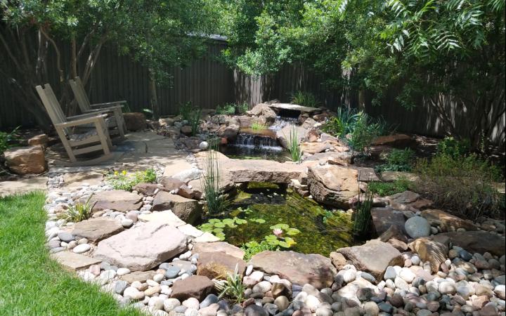 Natural Ponds & Waterfalls