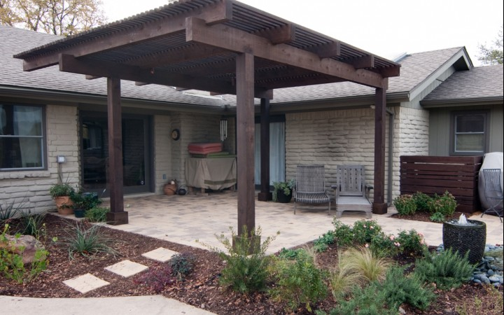 Contemporary Pergola & Patio